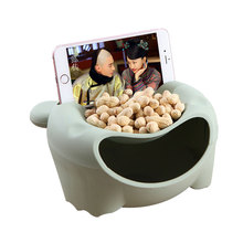 Upgraded Version Double Layer Plastic Bear Desktop Snack Food Storage Box  Multifunctional Circular Storage Container Organizer