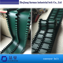 Farman Latest Products In Market Inclined Rubber Pu Cleat Conveyor Belt With Sidewall For All Kinds Of Industry(China)