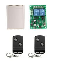 AC 220V 2CH RF 433Mhz Wireless Remote Control Switch Learning Code control remoto garaje 433m(China)