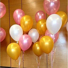 Party Balloons Supplies 50 Pack 12 Inches Ultra Thickness Gold & Pink & White Balloons Birthday/Wedding Baby Shower Party Supply