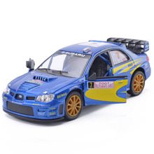 New KiNSMART 1:36 Scale Subaru Impreza WRC 2007 Racing Diecast Metal Car Model With Pull Back For Kids Gift Toys Free Shipping(China)