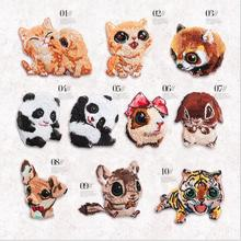 2017 new embroidery cloth Iron on cute panda animal BADGE PATCH DIY decorative fashion clothes(China)