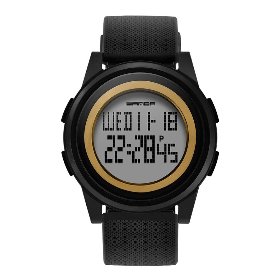 SANDA Fashion Women Sports Watches Waterproof 30m Ladies Ultra Thin LED Digital Watch Swimming Diving Hand Clock Montre Femme 26