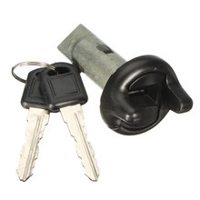 Ignition Key Switch Lock Cylinder + 2 Key For Pontiac/GMC/GM/Chevy LC1353 702671 Plastic and Metal Silver
