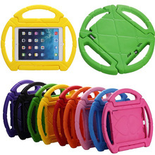 Portable Kids steering wheel for Apple iPad Air 1/2 EVA drop resistance stand holder hand-held protective back case +Gifts