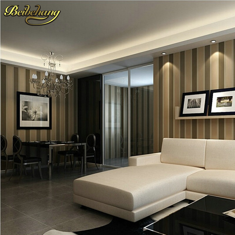 beibehang wall papers flocking simple striped wallpaper bedroom living room sofa backgroumd for wall paper  papel de parede 3d<br>