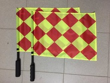 Soccer referee flag Fair Play Sports game team match training Football Linesman flags with bag Referee equipment