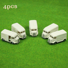 4PCS Light Yellow Business Cars Model 1:100 TT HO Scale for Model Train Layout C10015 railway modeling(China)