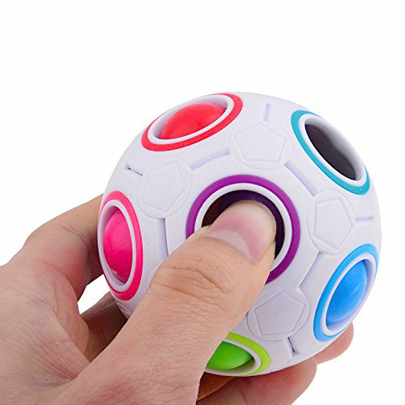 Spherical Cube magic Rainbow Ball Football Magic Speed Cube Puzzle Children's Educational Toys Cubes Anti Stress Cube Fidget Toy
