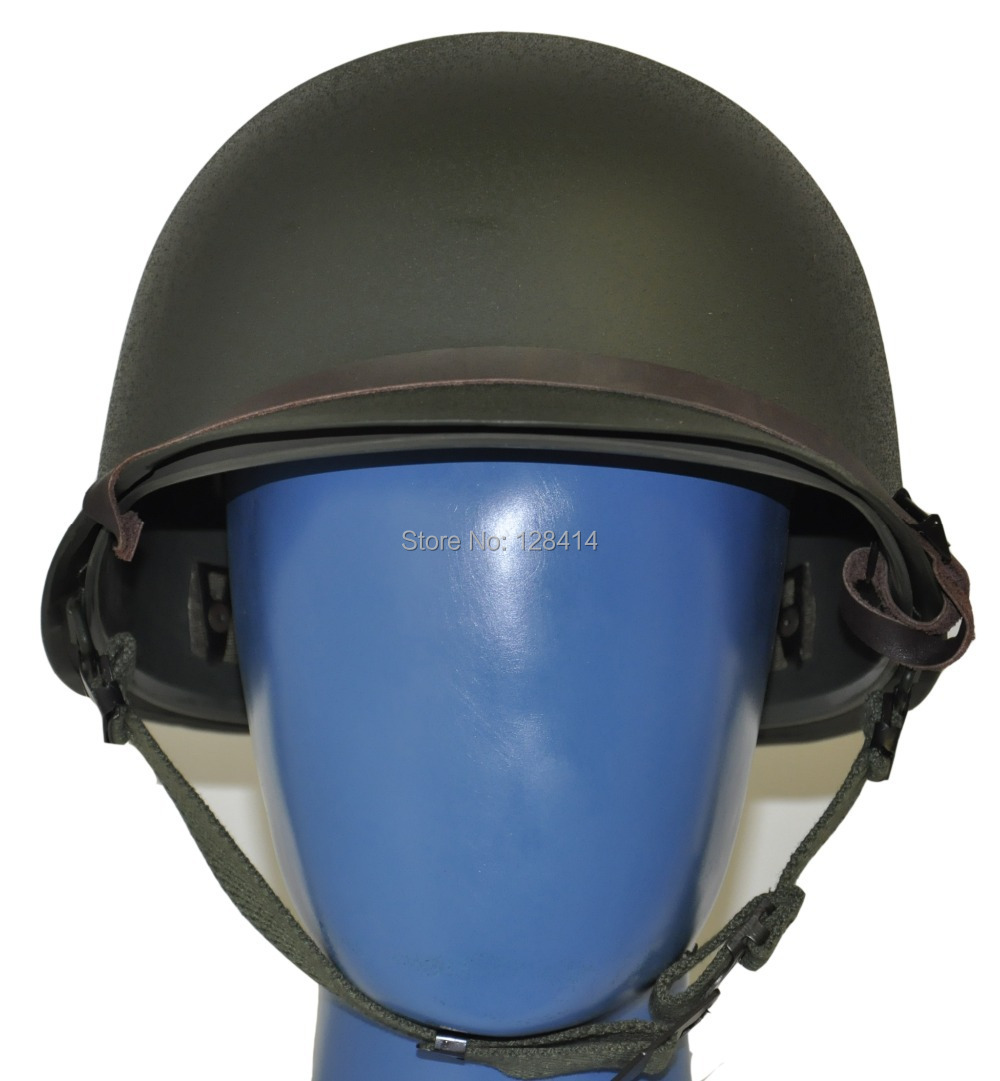 MILITECH USA M1 Replica Helmet With Inner ABS Helmet WW2 M1 Double Decker Helmet Motorcycle Safety Steel Helmet World War 2<br>