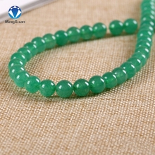 MINGXUAN 1strip Natural Stone Beads 4/6/8/10/12/14mm Round Crystal Quartz Green Aventurine Bead Loose Beads DIY Jewelry Findings