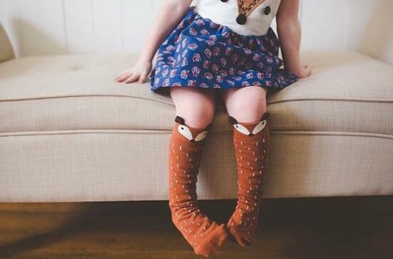 Little Children In The Middle Of The Fox Socks Three-dimensional Super cute  Fox Pantyhose long sock