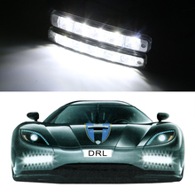 Buy 2pcs LED Daytime Running Lights Car-styling DC 12V 5 LEDs Car DRL Driving Light High Front Right Left Auto Fog Lamp for $19.86 in AliExpress store
