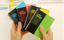 Creative Fluorescent Notebook Word Learning Foreign Language Vocabulary Notebook Planner Student Stationery School Supplies
