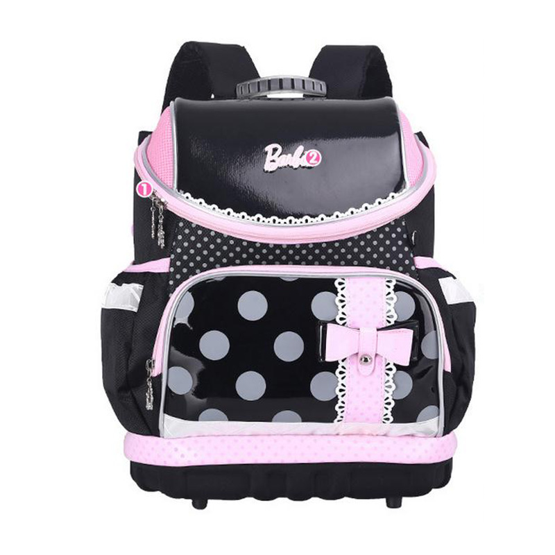 2016 New Dot Prints Schoolbag Girl High Quality Canvas Waterproof Backpack Beautiful Bow Burden School Bags Kid Mochila Escolar<br><br>Aliexpress