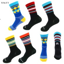YF&TT Men Cycling Riding Socks Sport Running Wearproof Socks Deodorization Bicycle High Elasticity Basketball Football Socks