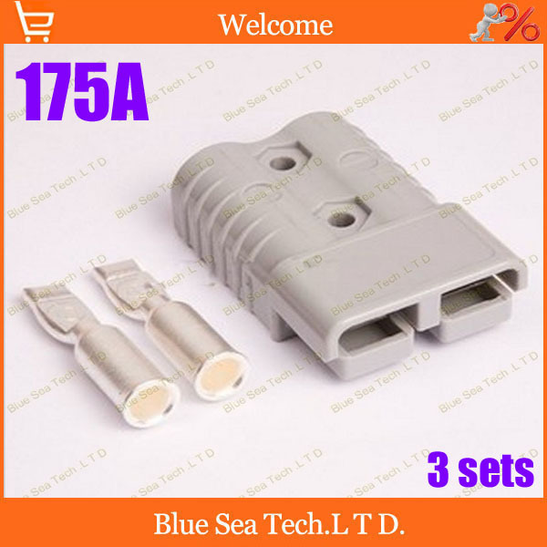 Free Shipping 3 sets New SMH 2P 175A 600V Power Connector Battery Plug,male&amp;female Connectors kits For forklift electrocar<br><br>Aliexpress