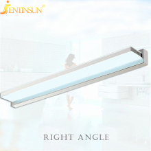 Modern 100cm 15W Right Angle Style LED Acrylic Wall Lamp Bathroom Mirror Light Stainless Wall Sconce Lights Factory Wholesale