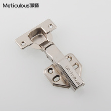 Meticulou Hinge Cold Rolled Steel Hydraulic Furniture Hinge Damper Buffer Cabinet Cupboard Door Hinges Soft Close Concealed(China)