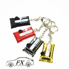 Engine Valve Cover Keychain For NISSAN Keyring JDM style twin cam 18valve Key chain car styling Key ring car styling