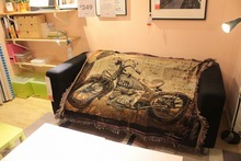 Industrial wind LOFT retro punk art Pure cotton carpet thin blanket Navajo blanket bed cover Tablecloth Felts tapestry