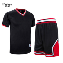 pastore1908 mens basketball jersey suit quick dry breathable running sports jersey shorts Personalise custom team pattern t309AB