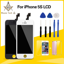 100% Brand New AAA Quality LCD For iPhone 5S Screen No Dead Pixel With Cold Glue Frame Free Shipping