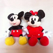10pc/lot 30cm Lovely Mickey Mouse And Red pink Minnie Mouse Stuffed Animals Plush Toys For Children's Gift(3 color)