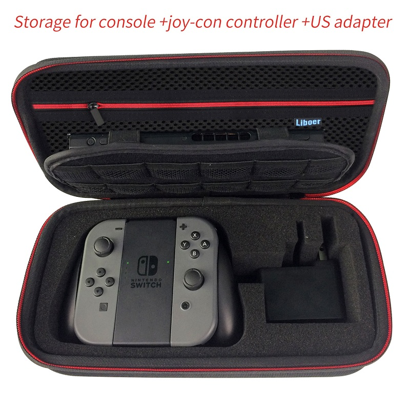 Hard Storage Carrying Case Portable Travel Bag with Handle for Nintendo Switch Console JoyCon Controller AC Adapter Charger BN30 13