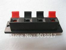 20 Pcs  64.5mmx17.6mm 4pin Red and Black Spring Push Type Speaker Terminal Board Connector WP4-7