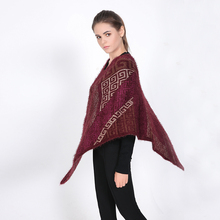 2016 Luxury Brand Winter for Women Poncho Retro Blanket Lady Thicken Shawl Cape Mohair Scarf Oversized Sweater Cardigan Jumper
