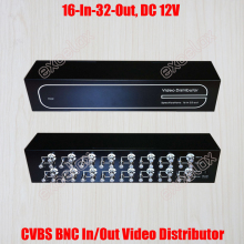 High Quality 16 In 32 Out Composite CVBS BNC Video Distributor 32 Channel Video Splitter CCTV Security System Signal Amplifier