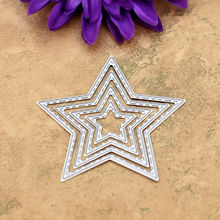 SPECIAL OFFER 4pcs Star Sewing Thread Metal Die cutting Dies For DIY Scrapbooking Photo Album Decorative Embossing Folder 611102