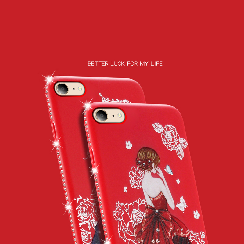 dress girl silicone case iphone 6 s 7 8 plus (9)
