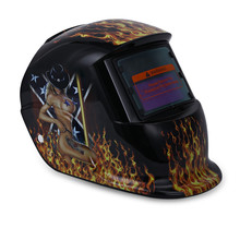 Solar Energy Electrical Welding Helmet Automatic Variable Beauty Pattern Mask Auto Darken Protective Welding Mask/Helmet/Welder(China)