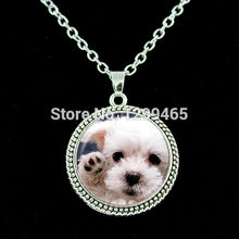 Dog art pture glass cabochon chain necklace Hottest animal jewelry Dog photo jewelry Personalized gift pet lover  N 230