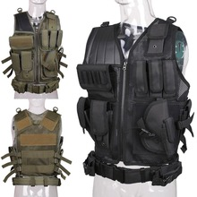 Military Tactical Vest Army Hunting Molle Airsoft Vest Outdoor Body Armor Swat Combat Painball Black Vest for Men