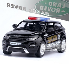 UNI Brand New 1/36 Scale UK L-andr0ver Evoque SUV Police Edition Diecast Metal Pull Back Car Model Toy For Gift/Collection/Kids