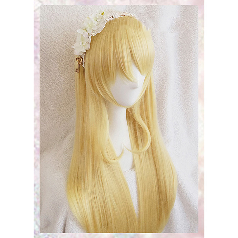Eli Ayase BLONDE GOLD Long wig Cosplay Wig party Anime hair Love Live