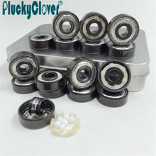 Pro-blacken Excellent Speed 627 z Skate Bearing  Abec11 Hybrid Ceramic Ball Skate roller ski Bearing derby roller quad skates