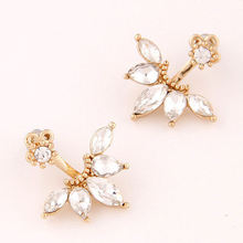 Fashion crystal Earrings Jackets For Women Wholesale Jewelry Earring Accesorios Pendientes(China)