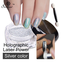 1 Box Laser Silver Glitters Nail Holographic Sequins Nail Paillettes Laser Glitter Dust Hologram Nail Sparkle Glitter(China)