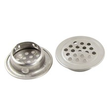 "2Pcs Silver Stainless Steel 1.3"" Top Diameter Kitchen Sink Basin Drain Strainer(China)"