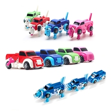 14CM cool Automatic transform Dog Car Vehicle Clockwork Wind up toy for children kids boy girl toy Gift 2017