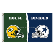 Helmet Design Green Bay Packers Flag Vs Dallas Cowboys Banners Sport Football Team Flags 3x5 Ft Super Bowl Champions Banner(China)