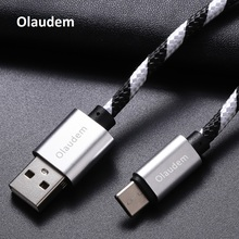 Olaudem USB Cable USB C 3.1 Type C Cable Type-C USB-C Fast Charging Data Sync Charger Mobile Phone Cable Huawei Xiaomi CB019
