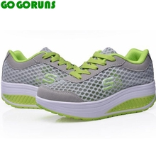 women new running shoes breathable swing platform ladies trainers shoes zapatillas mujer women running sport shoes sneakers 23d8(China)