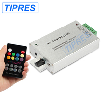 DC12V-24V 18 Keys RGB Music LED Controller RF Remote Sound Sensor Voice Audio Control For 3528 5050 RGB LED Strip Light(China)