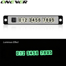 Car Luminous Magnetic Puzzle Parking Card With Sucker Temporary Stop Sign Telephone Number Plates Noctilucous Car Accessories