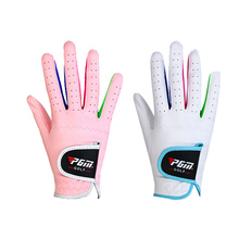 Hot Sales PGM Brand Boys Girls Outdoor Sport Superfine Fiber Cloth Golf Gloves Breathable Anti-slipping Gloves Pair 2 Color(China)